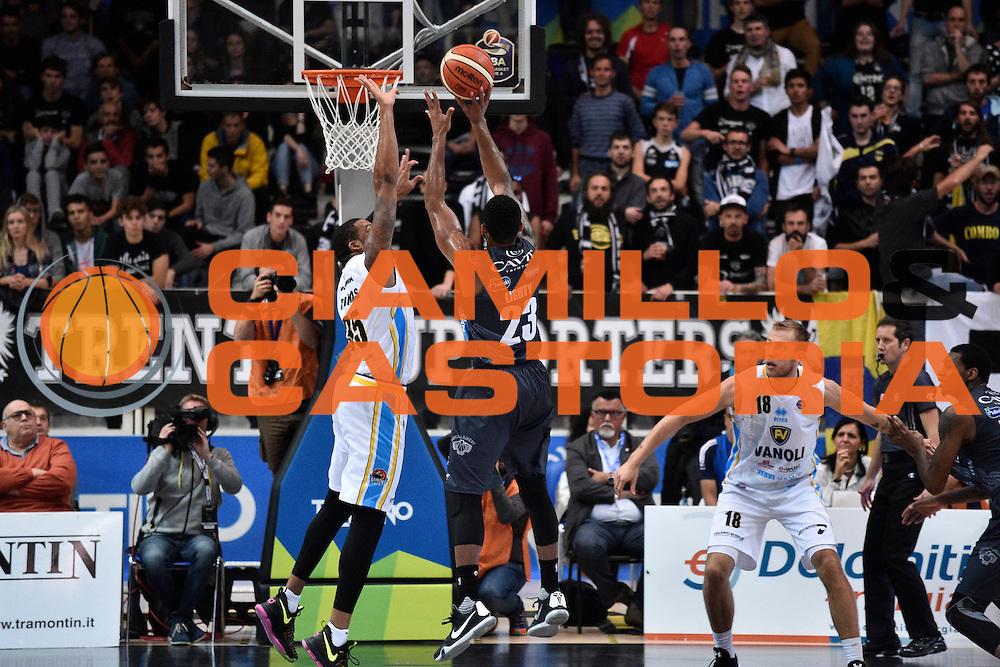 Lighty David<br /> Dolomiti Energia Trento - Vanoli Cremona<br /> Lega Basket Serie A 2016/2017<br /> Trento 09/10/2016<br /> Foto Ciamillo-Castoria