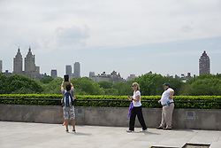 Tourists on the rooftop of The Metropolitan Museum of Art in New York City