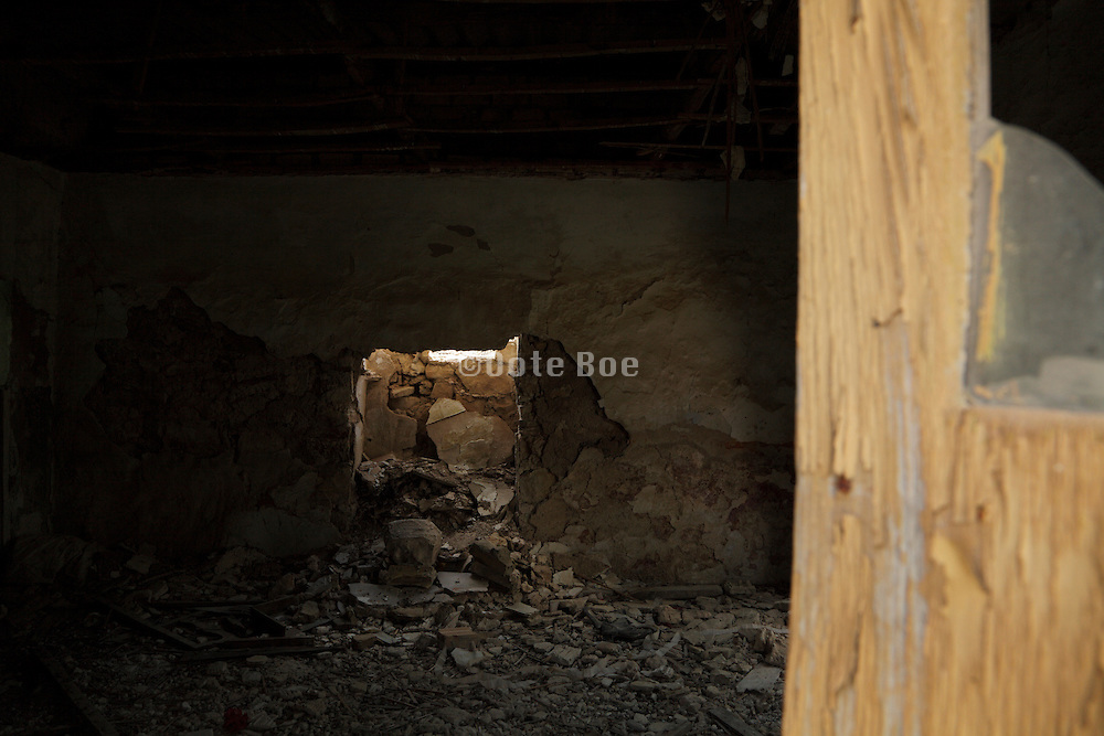 inside a derelict house