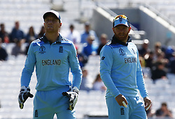 May 27, 2019 - London, England, United Kingdom - L-R Jos Buttler of England and Jonny Bairstow of England.during ICC Cricket World Cup - Warm - Up between England and Afghanistan at the Oval Stadium , London,  on 27 May 2019. (Credit Image: © Action Foto Sport/NurPhoto via ZUMA Press)
