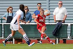 Megan Alexander midfielder/defender for Bristol City Women crosses - Mandatory byline: Rogan Thomson/JMP - 09/07/2016 - FOOTBALL - Stoke Gifford Stadium - Bristol, England - Bristol City Women v Milwall Lionesses - FA Women's Super League 2.