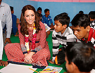Kate Middleton & Prince William Visit Childrens Charity in New Delhi