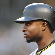 NEW YORK, NEW YORK - June 16: Gregory Polanco #25 of the Pittsburgh Pirates preparing to bat during the Pittsburgh Pirates Vs New York Mets regular season MLB game at Citi Field on June 16, 2016 in New York City. (Photo by Tim Clayton/Corbis via Getty Images)