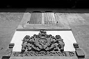 VOC Coat of Arms above an entrance to the Galle Fort.