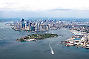 Aerial view of Manhattan, New York City, NY USA