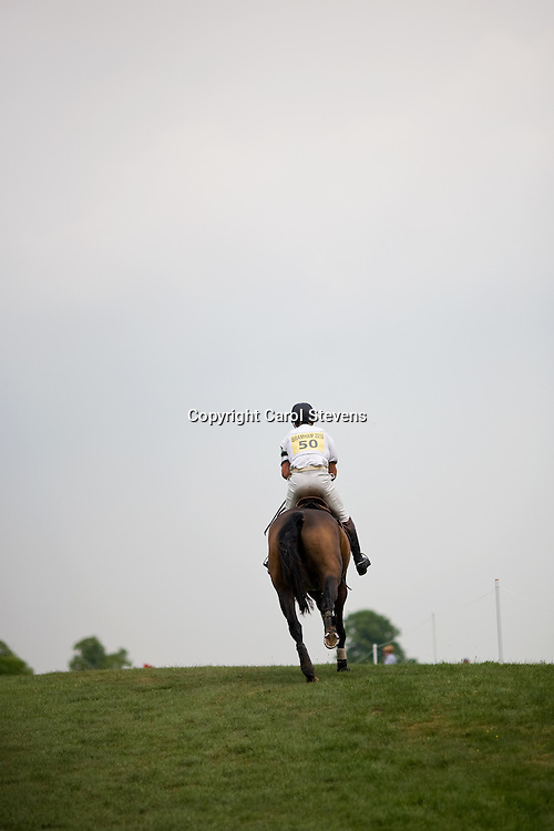 Harry Meade and Wild Lone at  the final vet inspection  Bramham Horse Trials 2010