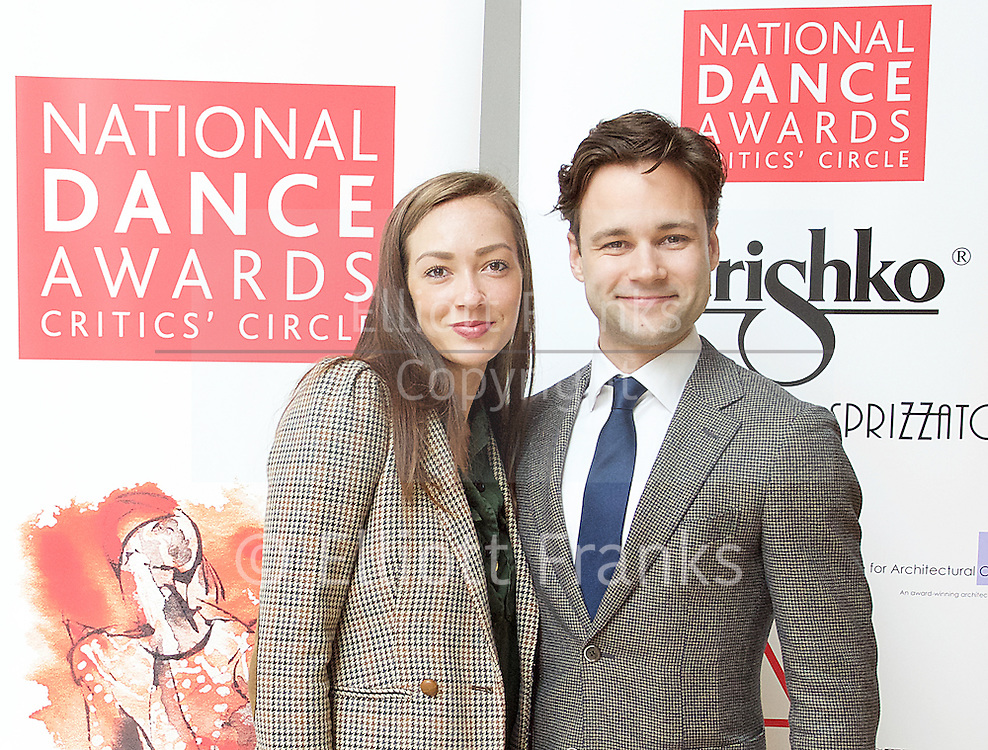 The Critics' Circle National Dance Awards 2016 <br /> at the Lilian Baylis Studio, Sadler's Wells, London, Great Britain <br /> <br /> 6th February 2017 <br /> Tierney Heap and <br /> Alexander Campbell <br /> <br /> Photograph by Elliott Franks <br /> Image licensed to Elliott Franks Photography Services