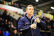 Shrewsbury boss Mickey Mellon during the Sky Bet League 1 match between Shrewsbury Town and Coventry City at Greenhous Meadow, Shrewsbury, England on 8 March 2016. Photo by Mike Sheridan.