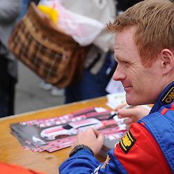Stevenson Motorsports Chevrolet Camaro driver Robin Liddell at the autograph session during the Rolex Grand-Am Sports Car Series Championship weekend at Lime Rock Park in Lakeville, Conn.