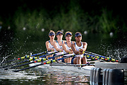 """Henley-on-Thames. United Kingdom.  <br /> Diamond Jubilee Challenge Cup. Henley RC. """"A"""".  Bow. E. MORGAN, G. ROBINSON, C. ORR and M WRIGHT,  2017 Henley Royal Regatta, Henley Reach, River Thames. <br /> <br /> 18:10:53  Saturday  01/07/2017   <br /> <br /> [Mandatory Credit. Peter SPURRIER/Intersport Images."""