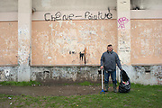 10 years ago, on 27 October 2005 riots broke out in the French suburbs.  It started here with the death of two boys, in Clichy sous Bois, 15 km from Paris, an economically deprived suburb. Ismaël Emine is the housekeeper in the Chene Pointu Complex since 10 years. Every morning he collects rubbish that tenants throw out through the windows. 11 March 2013, Clichy-sous-Bois, France.
