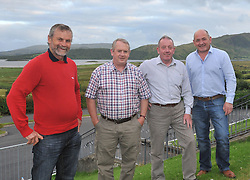 Members of Tourmakeady gathered in M&aacute;ire Luke's Tourmakeady to talk about the club's history recently pictured from left Tommie Heneghan, Frank Lally, Michael John Casey and Brian Gibbons.<br /> Pic Conor McKeown