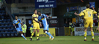 Photo: Marc Atkins.<br />Wycombe Wanderers v Oxford United. The FA Cup. 11/11/2006. Will Antwi (C) of Wycombe celebrates after scoring the 1st goal.