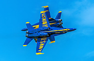 The Blue Angels perform at the Vero Beach Air Show on 4/20/2018.