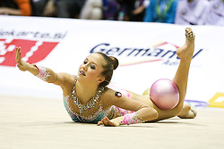 Aja Jerman of Slovenia competes during 28th MTM - International tournament in rhythmic gymnastics Ljubljana, on April 4, 2015 in Arena Krim, Ljubljana, Slovenia. Photo by Matic Klansek Velej / Sportida