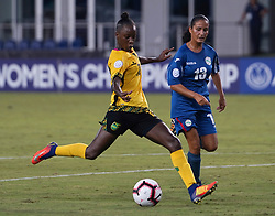 October 12, 2018 - Edinburgh, Scotland, United Kingdom - Edinburg, NC - OCTOBER 11: 2018..During CONCACAF Women's Championship Group B match between Cuba against Jamaica at H-E-BPark Stadium, Edinburg,  on October 11, 2018  (Credit Image: © Action Foto Sport/NurPhoto via ZUMA Press)