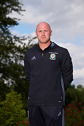 CARDIFF, WALES - Friday, August 25, 2017: Wales' Under-21 manager Robert Page poses for a portrait at the Vale Resort after announcing his squad for the forthcoming UEFA Under-21 Championship qualifying Group 8 game against Switzerland. (Pic by David Rawcliffe/Propaganda)