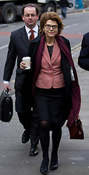© Licensed to London News Pictures. 04/02/2013. London, UK. Economist Vicky Pryce arrives at Southwark Crown Court in London today (04/02/13) at the start of a hearing where she faces charges of perverting the course of justice involving her ex-husband Chris Huhne and a 2003 speeding case. Photo credit: Matt Cetti-Roberts/LNP