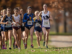Amanda Truelove of the Western Mustangs runs in the women's  6K Dash at the 2013 CIS Cross Country Championships in London Ontario, Saturday,  November 9, 2013.<br /> Mundo Sport Images/ JULIE ROBINS
