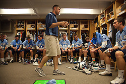 26 April 2009: North Carolina Tar Heels assistant coach Pat Myers during a 15-13 loss to the Duke Blue Devils during the ACC Championship at Kenan Stadium in Chapel Hill, NC.