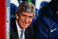 Manchester City Manager Manuel Pellegrini looks on - Photo mandatory by-line: Rogan Thomson/JMP - 07966 386802 - 06/04/2015 - SPORT - FOOTBALL - London, England - Selhurst Park - Crystal Palace v Manchester City - Barclays Premier League.