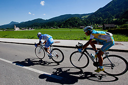 POZZOVIVO Domenico of Colnago and BRAJKOVIC Janez of Astana during 3rd Stage (219 km) at 19th Tour de Slovenie 2012, on June 16, 2012, in Bohinjska Bistrica, Slovenia. (Photo by Matic Klansek Velej / Sportida.com)