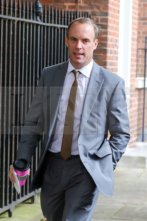 © Licensed to London News Pictures. 10/09/2019. London, UK. Foreign SecretaryDOMINIC RAAB departs from No 10 Downing Street after attending the weekly Cabinet Meeting. Photo credit: Dinendra Haria/LNP