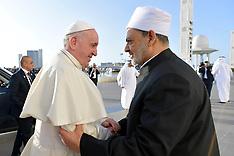 Pope Francis visits Sheikh Zayed Grand Mosque - Abu Dhabi 5 Feb 2019