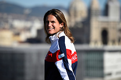 French Fed Cup team with captain Amelie Mauresmo during the draw ceremony at the first round tie against Italy at the Palais des Sports, Marseille, France on February, 5, 2016. Photo by Corinne Dubreuil/ABACAPRESS.COM