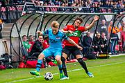 NIJMEGEN- 07-05-2017, NEC - AZ,  Stadion De Goffert, 2-1, AZ speler Jonas Svensson, NEC Nijmegen speler Arnaut Groeneveld