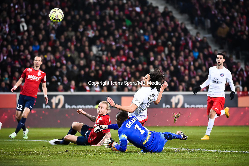 Goal Edinson CAVANI - 03.12.2014 - Lille / Paris Saint Germain - 16eme journee de Ligue 1<br />
