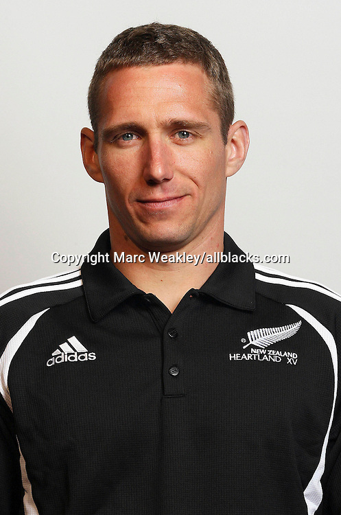 Greg MacLeod (Heartland XV Trainer) poses for a headshot as part of teh Heartland XV team at Trusts Stadium, Waitakere, New Zealand on Friday 27 October 2006. Photo: Marc Weakley/allblacks.com<br />