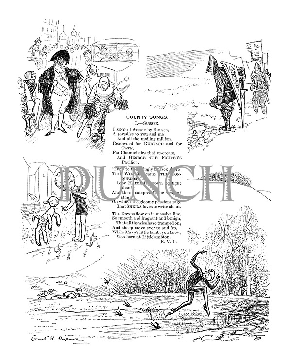 County Songs. I.- Sussex. (Illustrated poem)