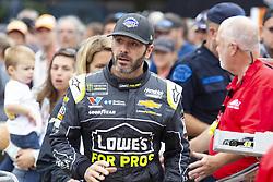 June 10, 2018 - Brooklyn, Michigan, U.S - NASCAR driver JIMMIE JOHNSON (48) walks in the pit area at Michigan International Speedway. (Credit Image: © Scott Mapes via ZUMA Wire)