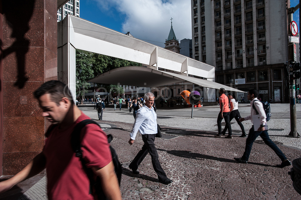 In the center or Sao paulo, where to go on foot and quickly