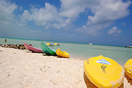 kayaks on the beach in Grand Cayman