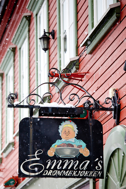 Emma's Drommekjokken, famous Norwegian restaurant in the city of Tromso in the Arctic Circle in Northern Norway