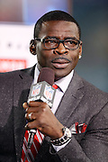 NFL Network football analyst Michael Irvin talks about the upcoming Jacksonville Jaguars NFL week 14 football game against the Houston Texans on Thursday, Dec. 5, 2013 in Jacksonville, Fla. The Jaguars won the game 27-20. ©Paul Anthony Spinelli