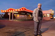 Comet II proprietor Johnny Martinez in Santa Rosa New Mexico. - Steven St. John for New Mexico Magazine