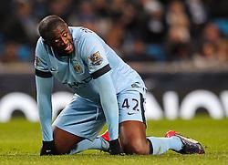 Manchester City's Yaya Toure reacts after missing a chance  - Photo mandatory by-line: Matt McNulty/JMP - Mobile: 07966 386802 - 04/03/2015 - SPORT - football - Manchester - Etihad Stadium - Manchester City v Leicester City - Barclays Premier League