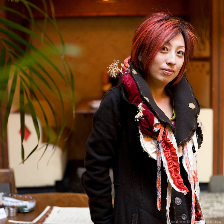 Maruko Masuda in a restaurant in Azabu-Juban