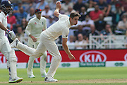 Chris Woakes of England bowling during the 3rd International Test Match 2018 match between England and India at Trent Bridge, West Bridgford, United Kingdon on 18 August 2018.