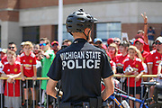 Police officer during the Manchester United and Liverpool International Champions Cup match at the Michigan Stadium, Ann Arbor, United States on 28 July 2018.