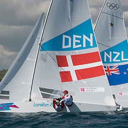 2012 Olympic Games London / Weymouth<br /> <br /> Star practice race<br /> StarDENHESTBAEK Michael, Olesen Claus<br /> StarNZLPepper Hamish, Turner Jim
