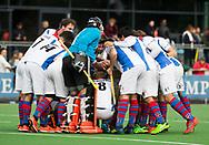 AMSTELVEEN - Team huddle SCHCHoofdklasse competitie heren. Pinoke-SCHC (0-1) . COPYRIGHT  KOEN SUYK