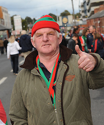 Mayo supporter Gerry Murphy from Ladhardane on his way to Croke for the replay.<br />
