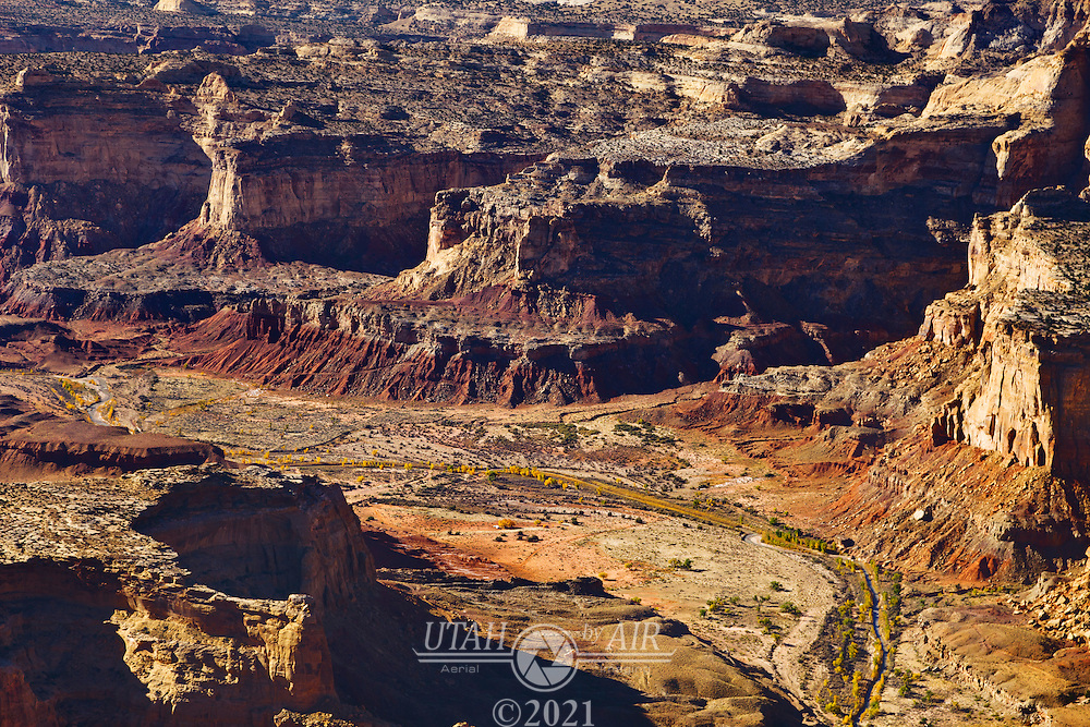 The Muddy Creek running through the San Rafael Swell