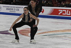 February 8, 2019 - Anaheim, California, U.S - Evelyn Walsh and Trennt Michaud from Canada competes in the Pairs Short Program during the ISU - Four Continents Figure Skating Championships, at the Honda Center in Anaheim California, February 5-10, 2019 (Credit Image: © Dave Safley/ZUMA Wire)
