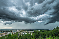 As the storm clouds approached, the outflow winds provided a cool breeze that felt nice on a hot day. This view is from the top of a bluff in East Peoria.<br />