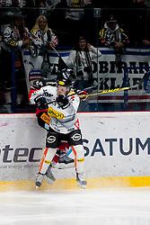 06.03.2016, Ice Rink, Znojmo, CZE, EBEL, HC Orli Znojmo vs Dornbirner Eishockey Club, Viertelfinale, 5. Spiel, im Bild v.l. Roman Tomas (HC Orli Znojmo), Dustin Sylvester (Dornbirner) // during the Erste Bank Icehockey League 5th quarterfinal match between HC Orli Znojmo and Dornbirner Eishockey Club at the Ice Rink in Znojmo, Czech Republic on 2016/03/06. EXPA Pictures © 2016, PhotoCredit: EXPA/ Rostislav Pfeffer